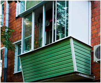Вариант внешней отделки балкона